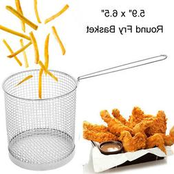 US Wire Round Frying Net Basket Strainer French Fries Potato